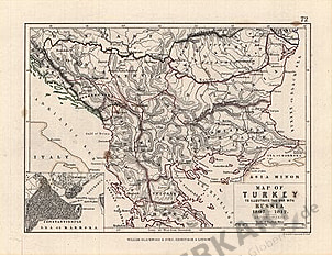 1807 - 1812 - Map of Turkey to illustrate the war with Russia