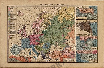 Völkerkarte von Europa (Replikat)
