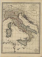 1816 - Carte De L´Italie Ancienne