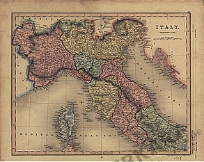 1838 - Italy / Northern Part (Replica)