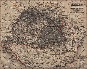 1855 - Galizien, Ungarn, Slavonien und Croatien, Siebenbürgen un