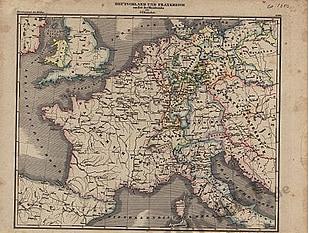 1850 - Deutschland und Frankreich zur Zeit des ndesRheinbu