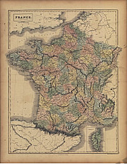 1854 - France in Departments