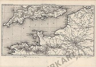 1845 - Carte Generale de la Manche