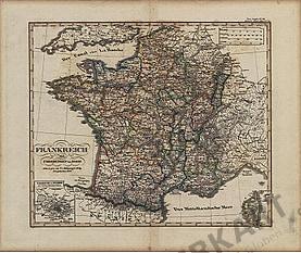 1829 - Frankreich und Umgebung von Paris