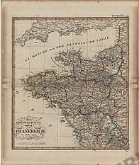 1824 - Der Nord-Westliche Theil von Frankreich (Replikat)