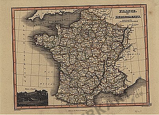 1823 - France in Departments