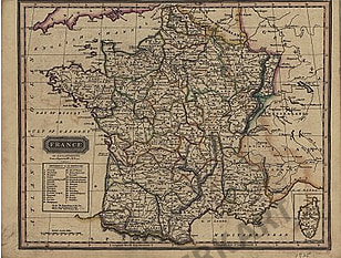 1825 - France in Departments
