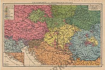 1881 - Völkerkarte von Oesterreich - Ungarn (Replica)