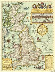 1964 Shakespeare's Britannien 48 x 63cm