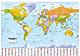 Politische Weltkarte mit Flaggen 1:30 Mio 135 x 96cm