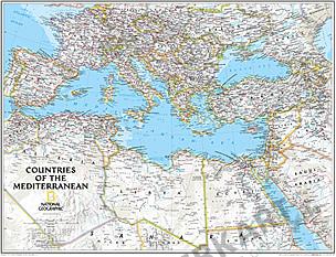 Middelhavslandene Kort