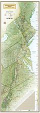 Appalachian Trail Karte 46 x 122cm