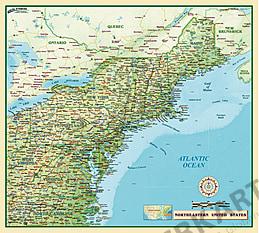 Nordosten der USA 100 x 90cm