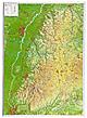 3D Reliefkarte Schwarzwald