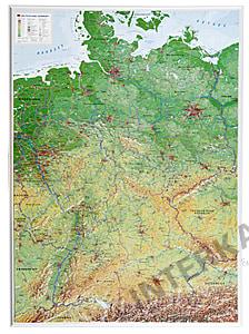 3D Reliefkarte Deutschland