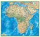 Afrika Karte physikalisch englisch 100 x 92cm
