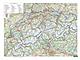 Schweiz Straßenkarte - Schweiz Landkarte als Poster