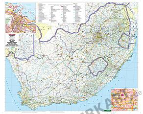 Südafrika Landkarte - Karte als Poster