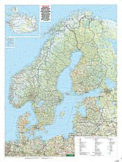 Nordeuropa Straßenkarte 87 x 116cm