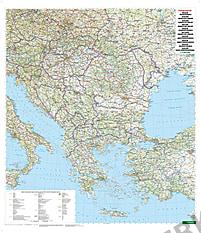Balkan und Südosteuropa Landkarte 87 x 105cm