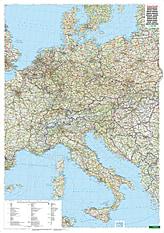 Zentral Europa Landkarte 87 x 123cm