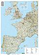 Westeuropa Straßenkarte