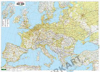Europa physikalische Karte