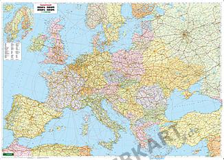 Politische Europa Straßen Karte