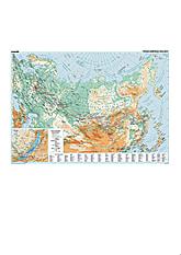 Transsibirische Eisenbahn Karte 96 x 68cm