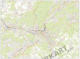 City Map Saarbrücken 120 x 160cm