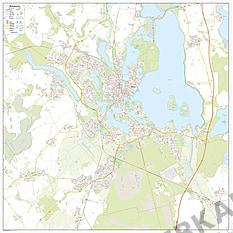 Bykort Schwerin 125 x 125cm