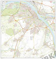 City Map Mainz 105 x 110cm