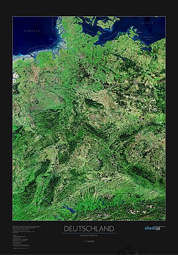 landkarte deutschland satellit Deutschland Satelliten Poster