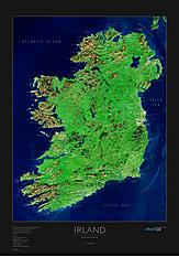 Ireland Satellite Poster