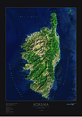 Corse Poster Map