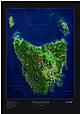 Tasmanien Poster Satelliten Karte