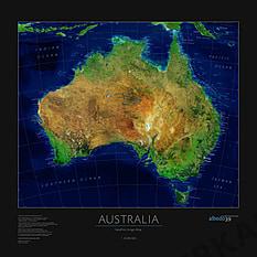 Satellitenbildkarte von Australien