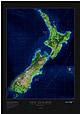 Neuseeland Satelliten Poster