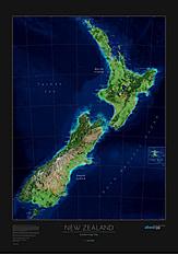 New Zealand Satellite Poster