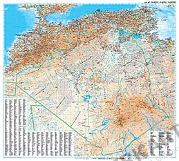 Algeriet kort plakat 99 x 88cm