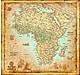Afrika Karte antik 105 x 100cm