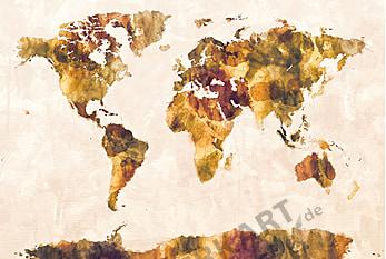 World Map Watercolor 100 x 65cm