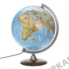 Doppelbild Globus mit Holzfuß 30cm