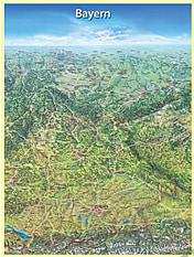 Panorama Landkarte Bayern