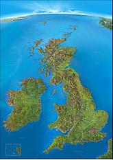 Panorama Landkarte Britische Inseln 95 x 135cm