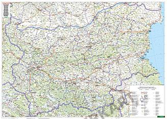 Bulgarien Landkarte 132 x 94cm