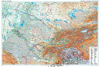 Zentralasien physikalische Landkarte