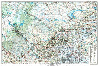 Zentralasien Straßenkarte