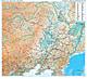 China Nordost Landkarte 96 x 88cm